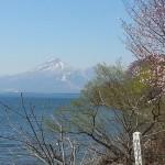 天空だより 4月号 No.4【磐梯山と桜、猪苗代湖】